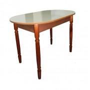 Кухонный стол овальный раздвижной бежевый