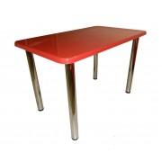 Обеденный стол прямоугольный, камень  красный