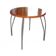 Кухонный стол из камня круглый Оранжевый