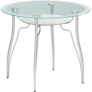 """Круглый стеклянный стол """"Лилия 1"""", d = 90 см"""