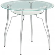 """Круглый стеклянный стол """"Лилия 2"""", d = 90 см"""