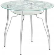"""Круглый стеклянный стол """"Лилия 3"""", d = 90 см"""