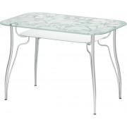"""Прямоугольный стеклянный стол """"Лилия 6"""", 110*70 см"""