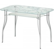 """Прямоугольный стеклянный стол """"Византия 6"""", 90*60 см"""